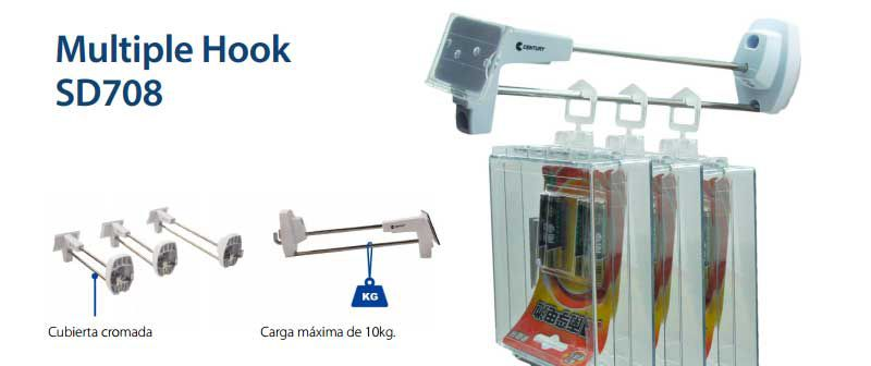 Protección y exhibición de productos con Multiple Hook SD708